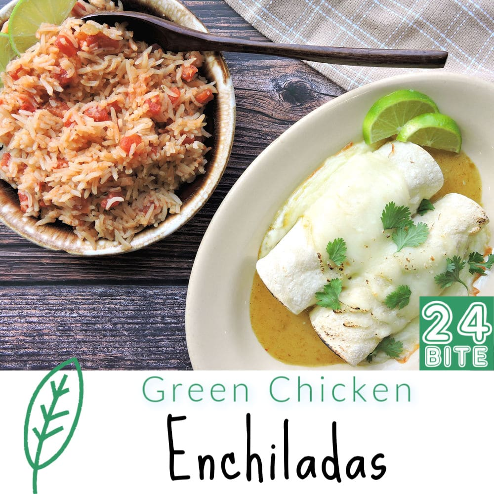 24Bite Recipe: Green Chicken Enchiladas by Christian Guzman