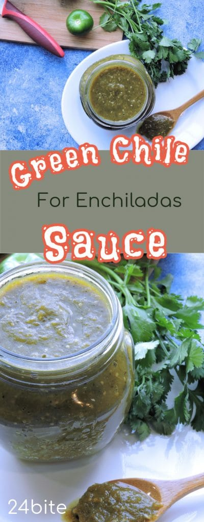 24Bite: Green Enchilada Sauce Recipe  with Roasted Chiles and Tomatillos by Christian Guzman