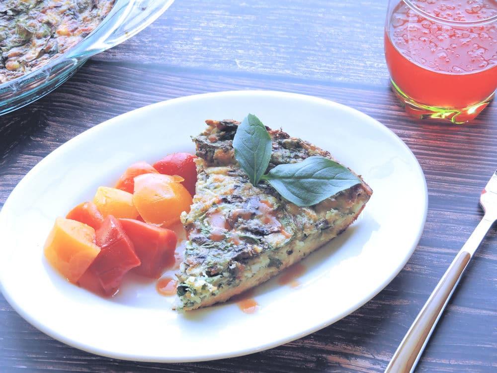 24 Bite: Crustless Spinach Mushroom Quiche Gluten Free Recipe by Christian Guzman