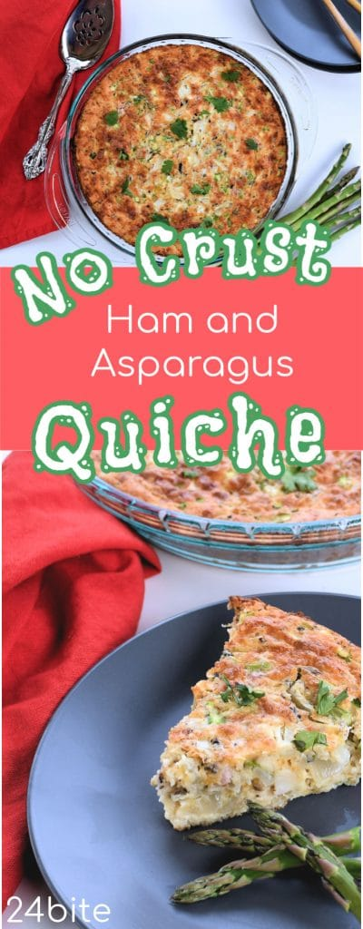 24 Bite: No Crust Easy Quiche Recipe: Ham and Asparagus by Christian Guzman