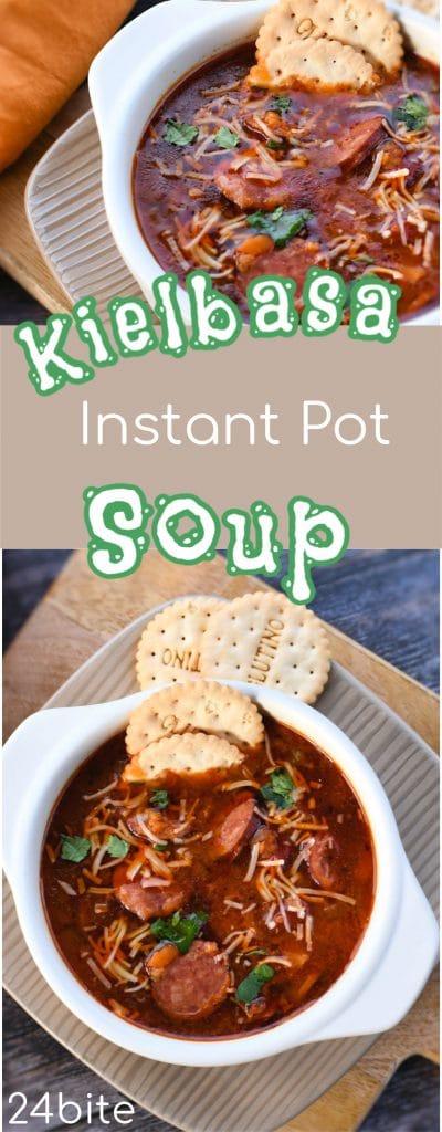 24Bite Recipe: Instant Pot Recipe: Kielbasa and Lentils Soup by Christian Guzman