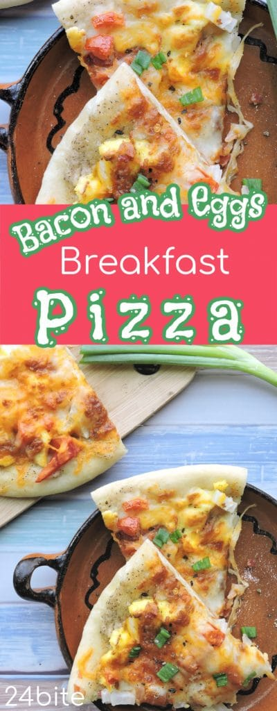 24Bite: Breakfast Pizza Recipe with Bacon and Eggs by Christian Guzman
