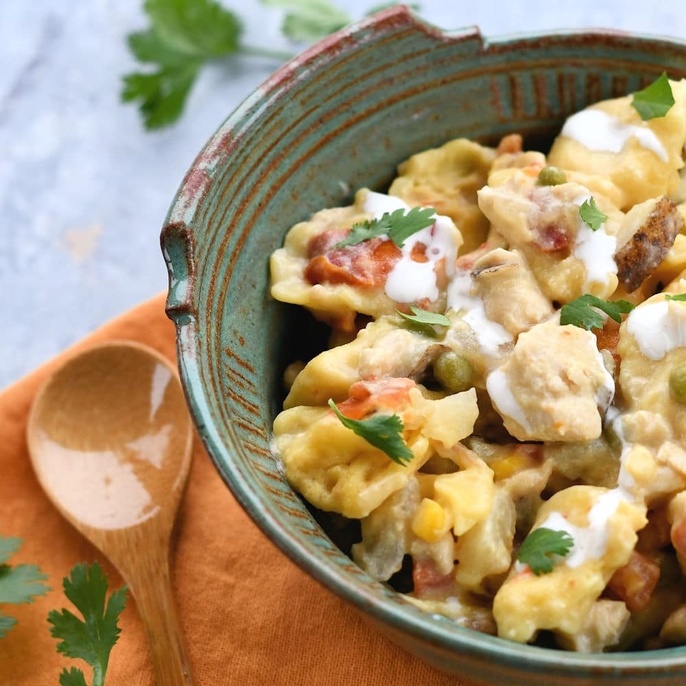 24Bite: Crock Pot Chicken and Tortellini Recipe in a bowl by Christian Guzman