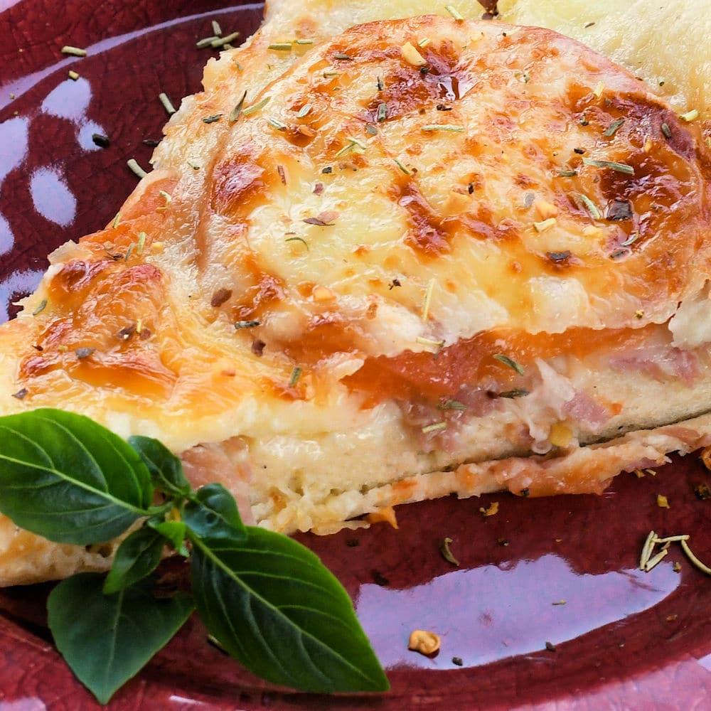 24Bite: Prosciutto Provolone Pizza Recipe by Christian Guzman
