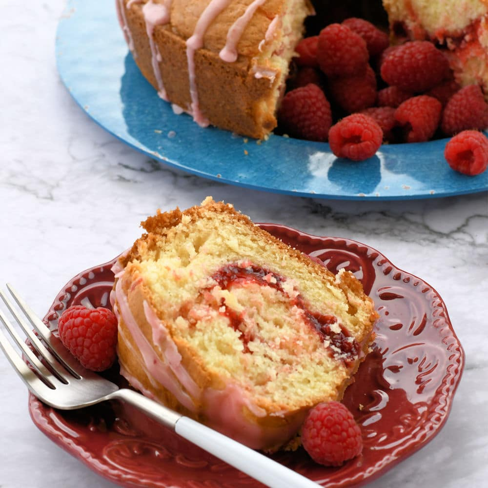 24Bite: Raspberry Swirl Cake Recipe by Christian Guzman