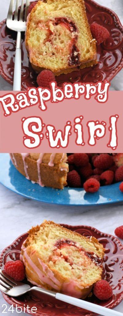 24Bite: Raspberry Swirl Cake Recipe by Christian Guzman