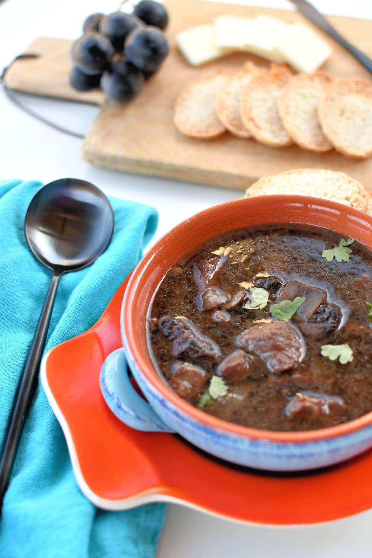 24Bite: Steak and Mushrooms Soup Instant Pot Recipe by Christian Guzman