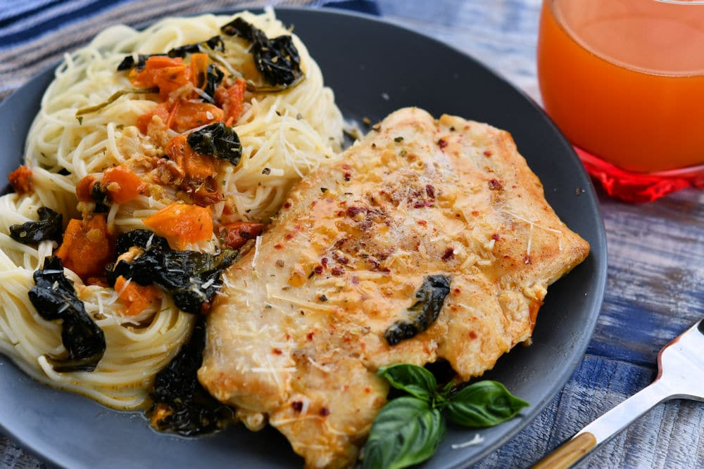 24Bite: Tuscan Chicken Recipe for Two by Christian Guzman
