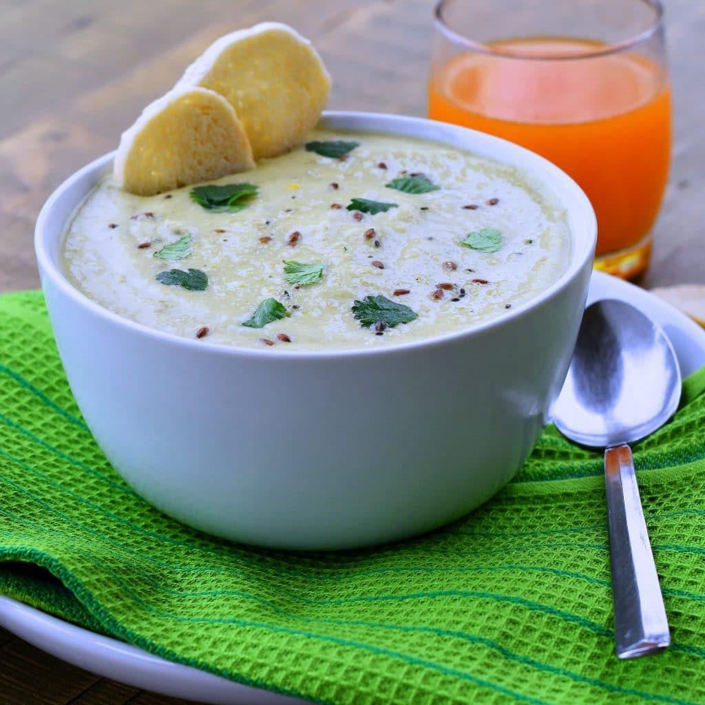 24Bite: Vegan Cream of Celery Soup Recipe by Christian Guzman