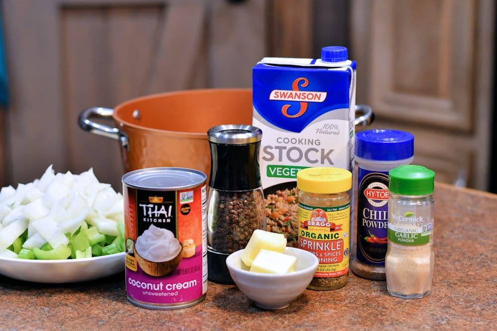 24Bite: Ingredients for Vegan Cream of Celery Soup Recipe