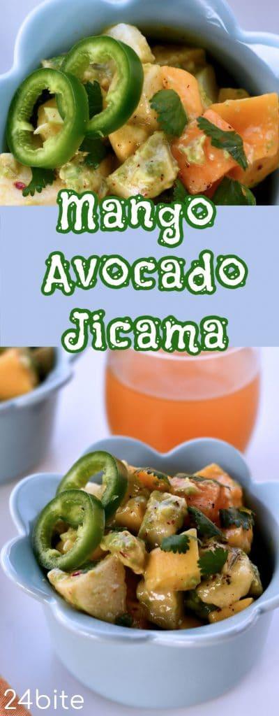 24Bite: Mango Avocado Jicama Salad Recipe by Christian Guzman