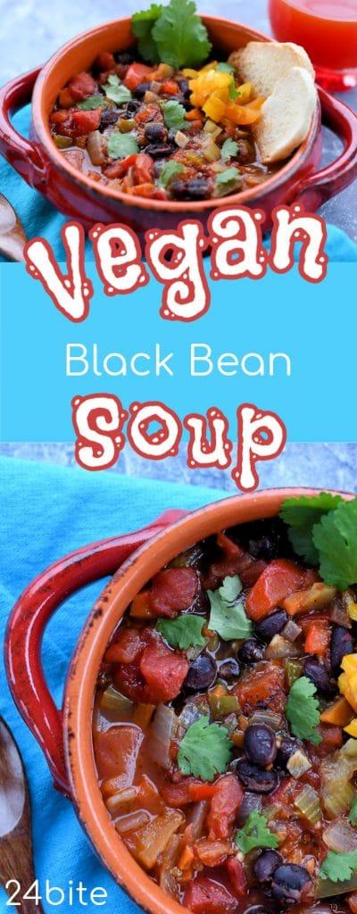 24: Vegan Black Bean Soup Recipe by Christian Guzman