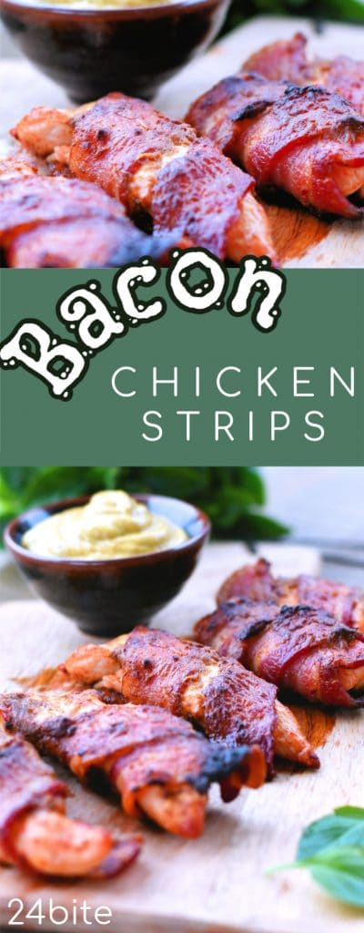 24Bite: Bacon Wrapped Chicken Strips Party Snacks by Christian Guzman