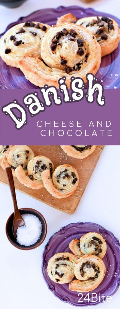 24Bite: Easy Cheese Danish with Chocolate Chips by Christian Guzman