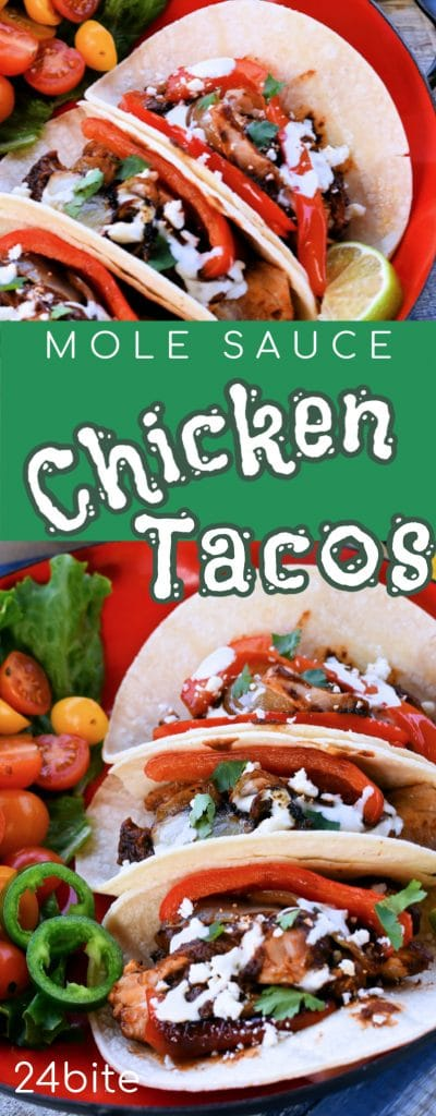 24Bite: Easy Chicken Tacos with Mole Sauce by Christian Guzman
