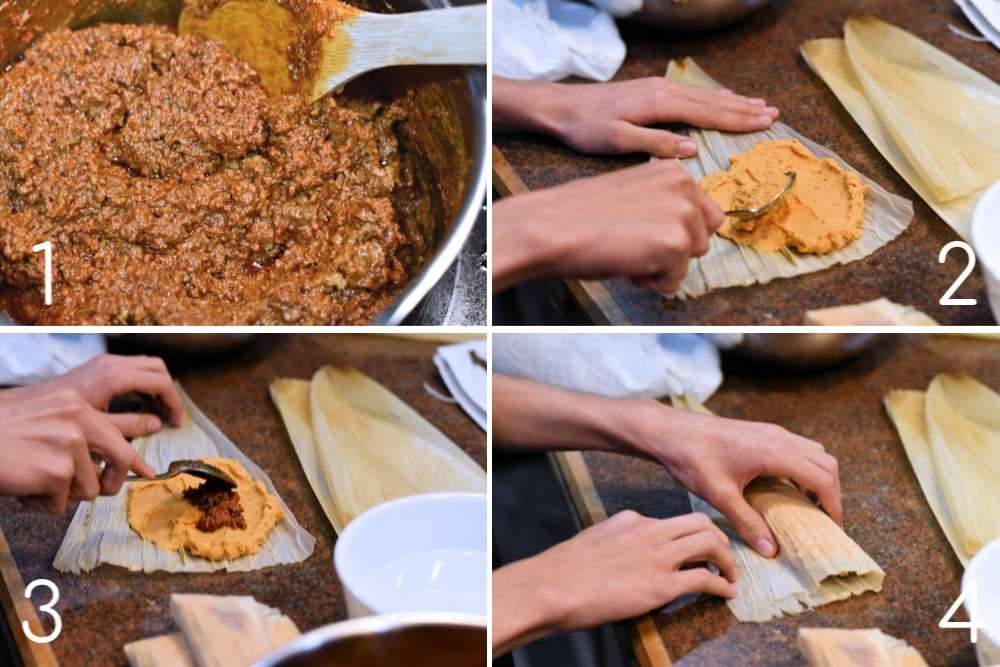 24Bite: Assembling Homemade Chorizo Tamales with Ground Beef by Christian Guzman