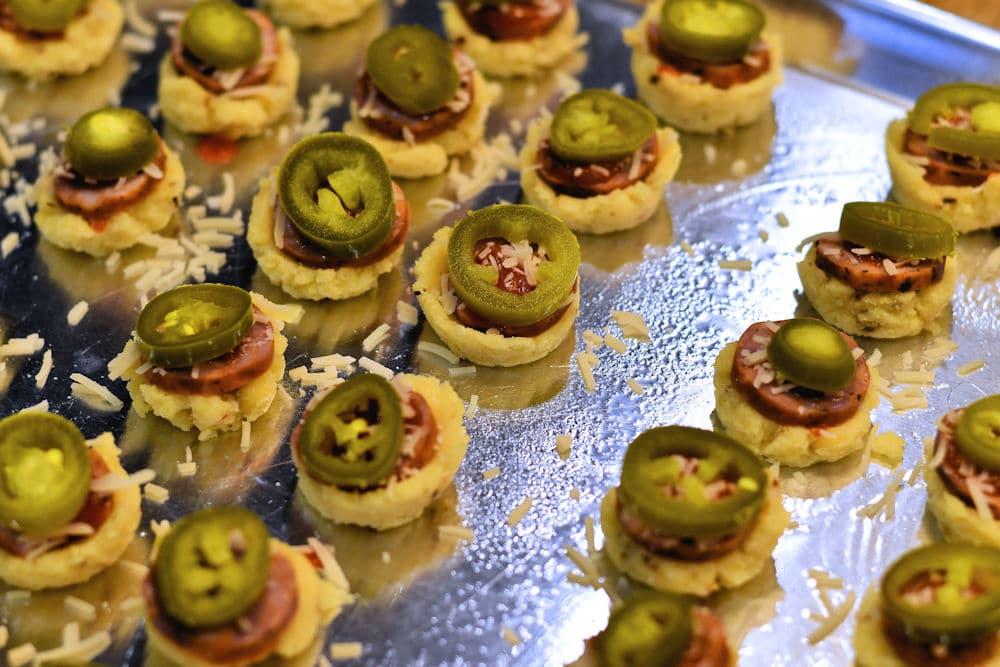 24Bite: Gluten Free Pizza Bites in Polenta Cups Recipe by Christian Guzman