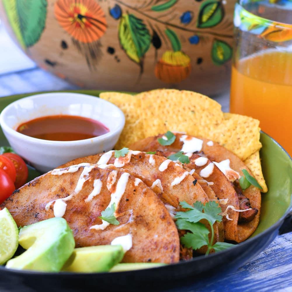 24Bite: Chicken Tinga Tacos Dorados Recipe by Christian Guzman