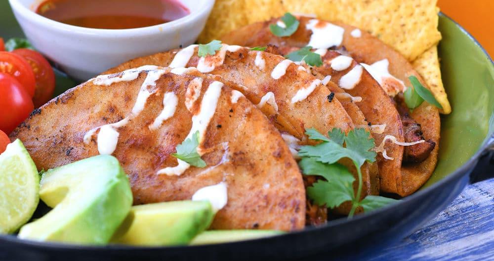 24Bite: Chicken Tinga Tacos Dorados Recipe