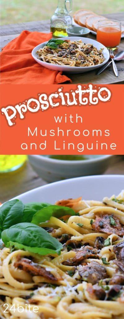 24Bite: Prosciutto Recipe with Mushrooms and Pasta by Christian Guzman