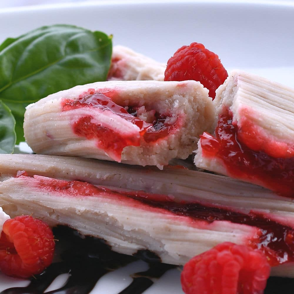 24Bite Sweet Tamales Recipe: Raspberry Dessert by Christian Guzman