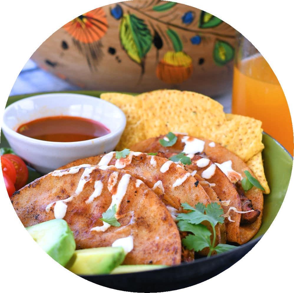 24Bite Recipe: Chicken Tinga Tacos Dorados