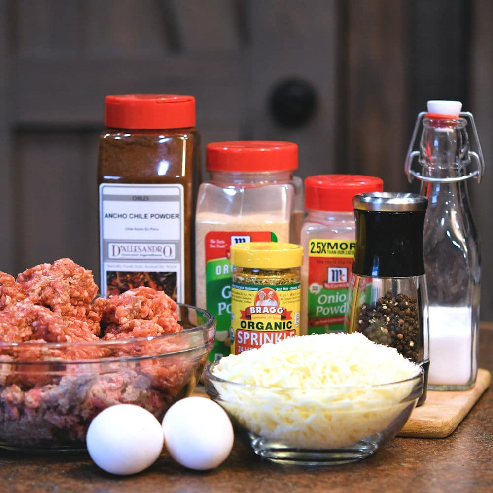 24Bite: Ingredients for gluten free and low carb baked meatballs