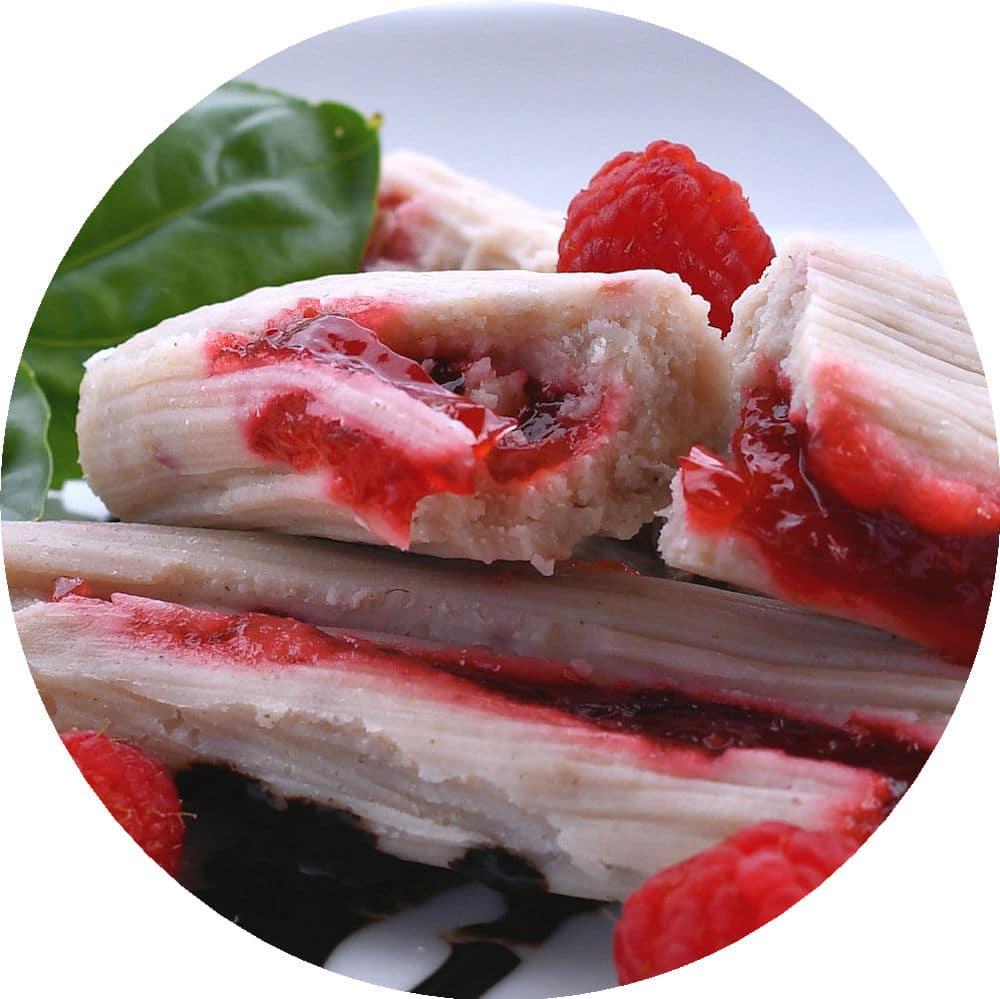 24Bite recipe: Raspberry Sweet Dessert Tamales