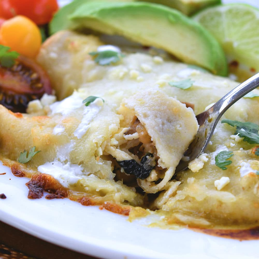 24Bite: Vegetable Enchiladas: Spinach and Mushrooms Recipe by Christian Guzman