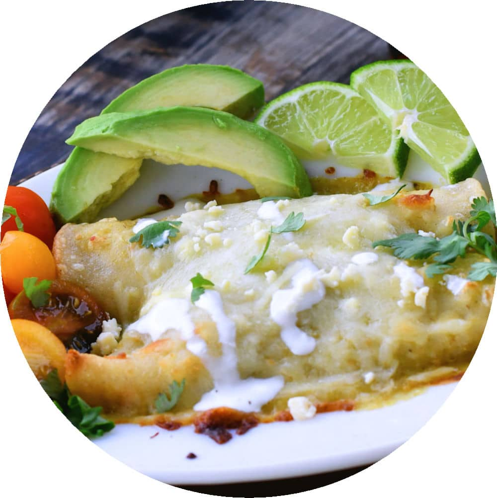 24Bite recipe: Spinach and Mushroom Enchiladas