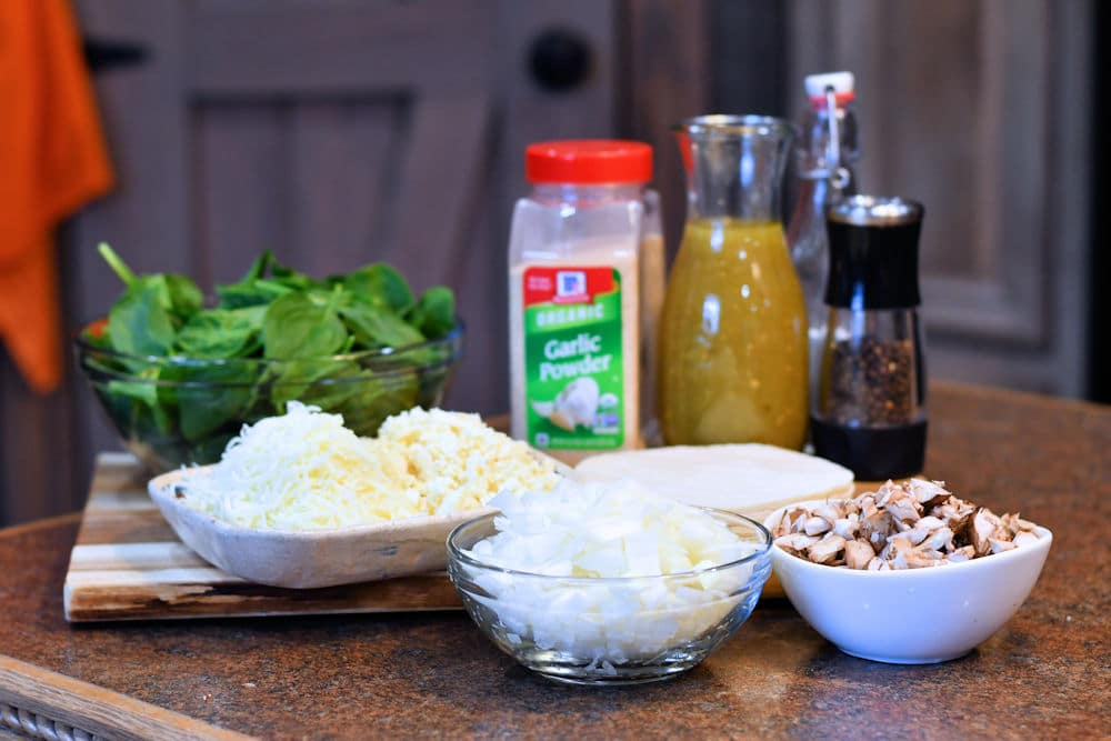 24Bite: Ingredients for Spinach and Mushroom Enchiladas