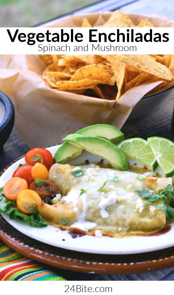 24Bite: Vegetable Enchiladas: Spinach and Mushrooms Recipe by Christian Guzman