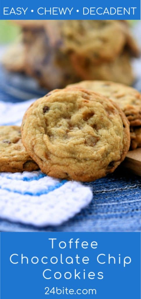 24Bite: Easy Chewy Cookies with Toffee and Chocolate Chips Recipe by Christian Guzman