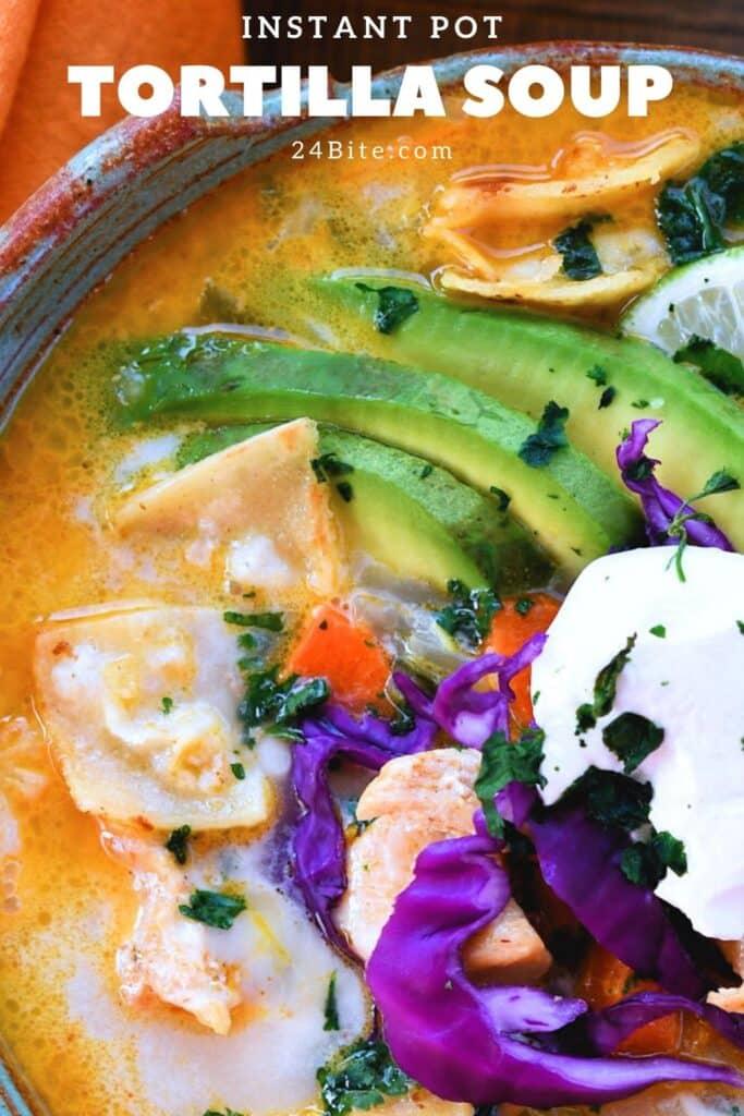 24Bite: Creamy Chicken Tortilla Soup Instant Pot Recipe by Christian Guzman