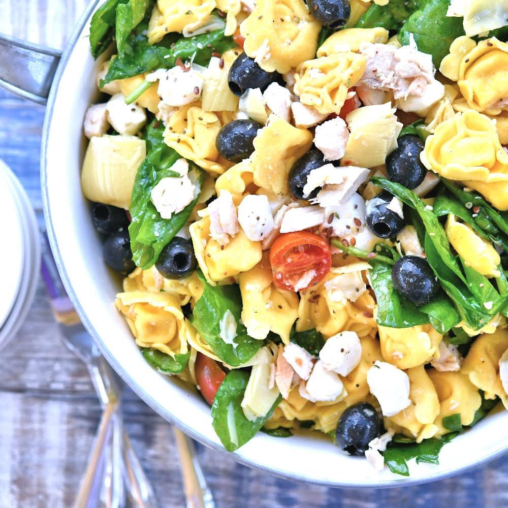24Bite: Cold Tortellini Salad with Chicken Recipe by Chrsitian Guzman