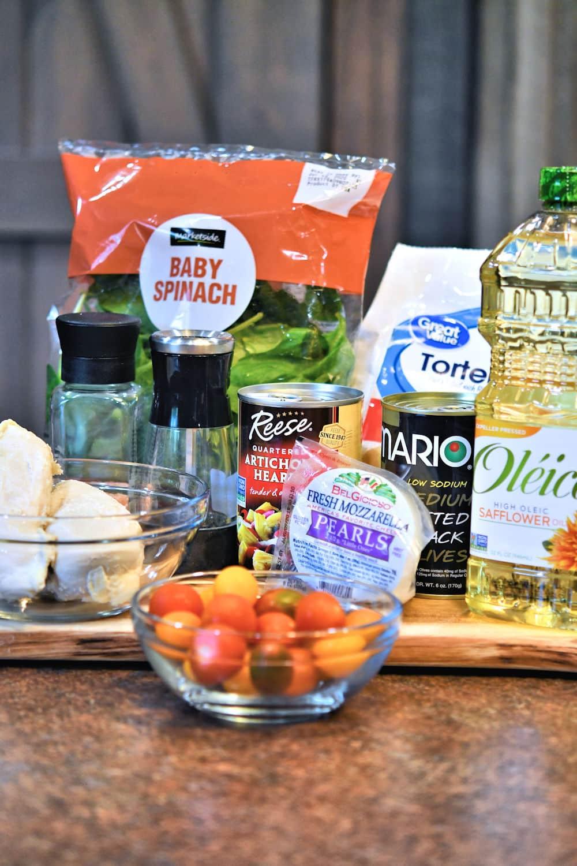 ingredients for chicken tortellini salad