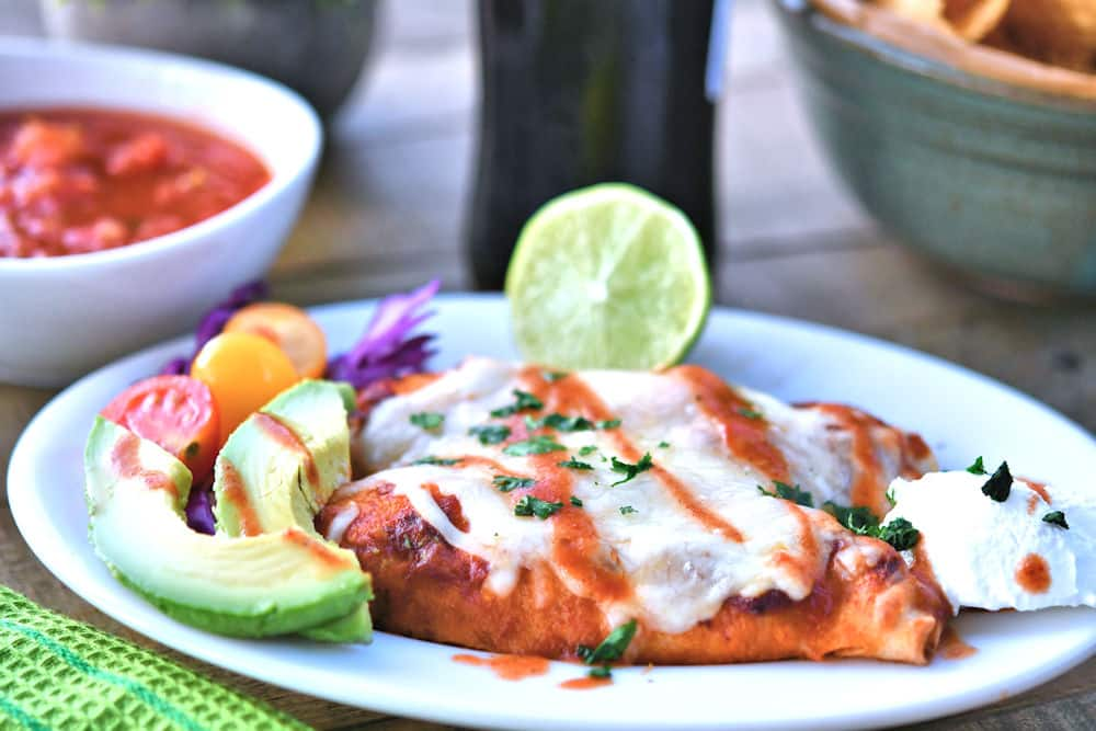 24Bite: Creamy Salsa Chicken Enchiladas Recipe by Christian Guzman