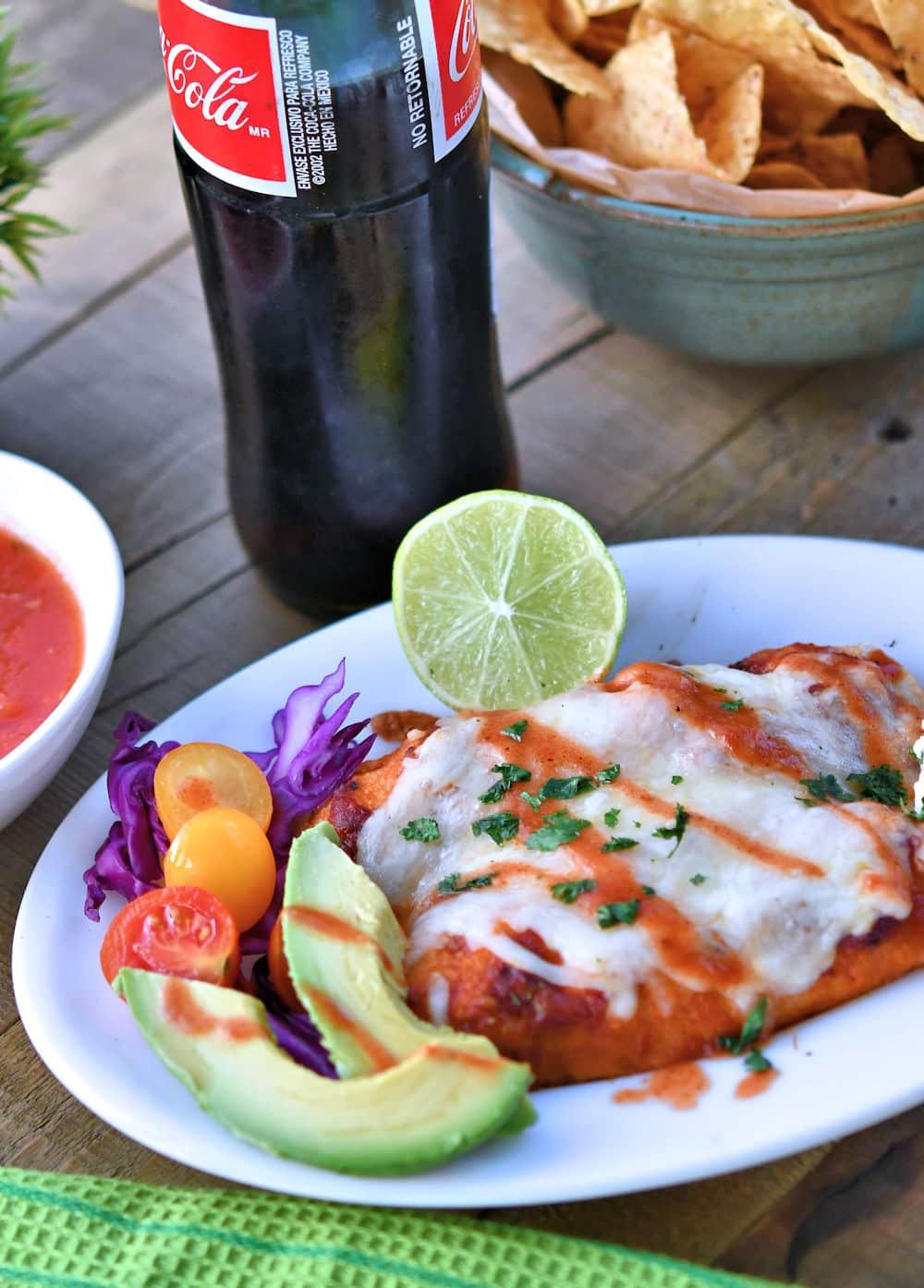 24Bite: Creamy Salsa Chicken Enchiladas Recipe by Christian Guzman