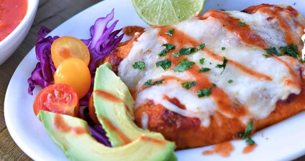 Creamy Salsa Chicken Enchiladas