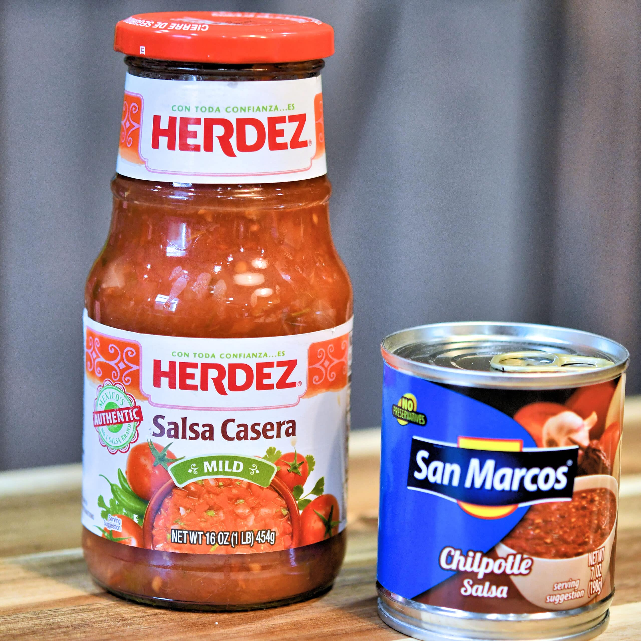 "herdez salsa casera and san marcos ""chilpotle"" chipotle sauce"