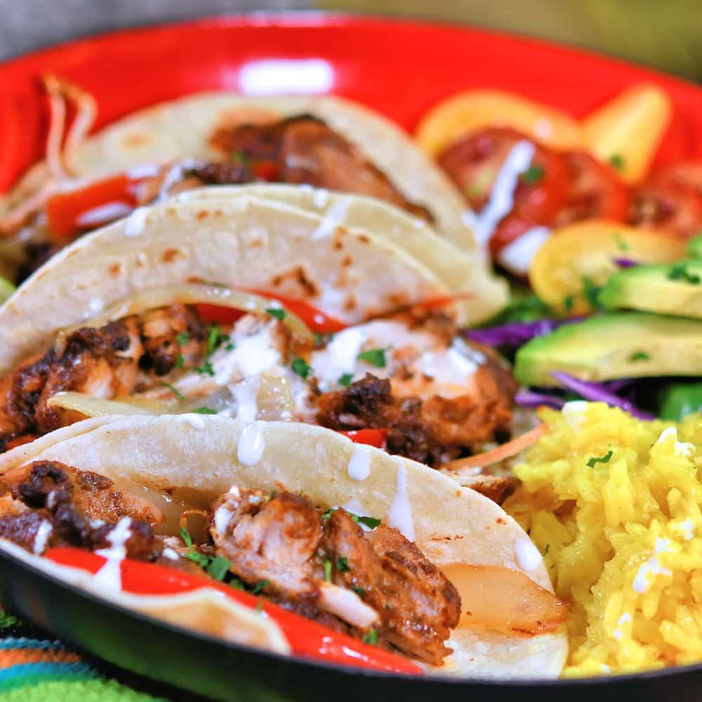 24bite: Chicken Mole Tacos with Dona Maria Sauce recipe by Christian Guzman