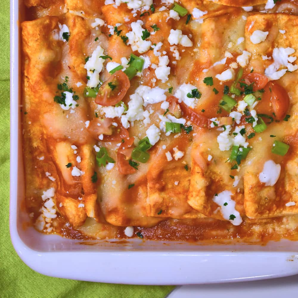 24Bite: Cheese Enchiladas with Roasted Poblano Peppers Recipe by Christian Guzman