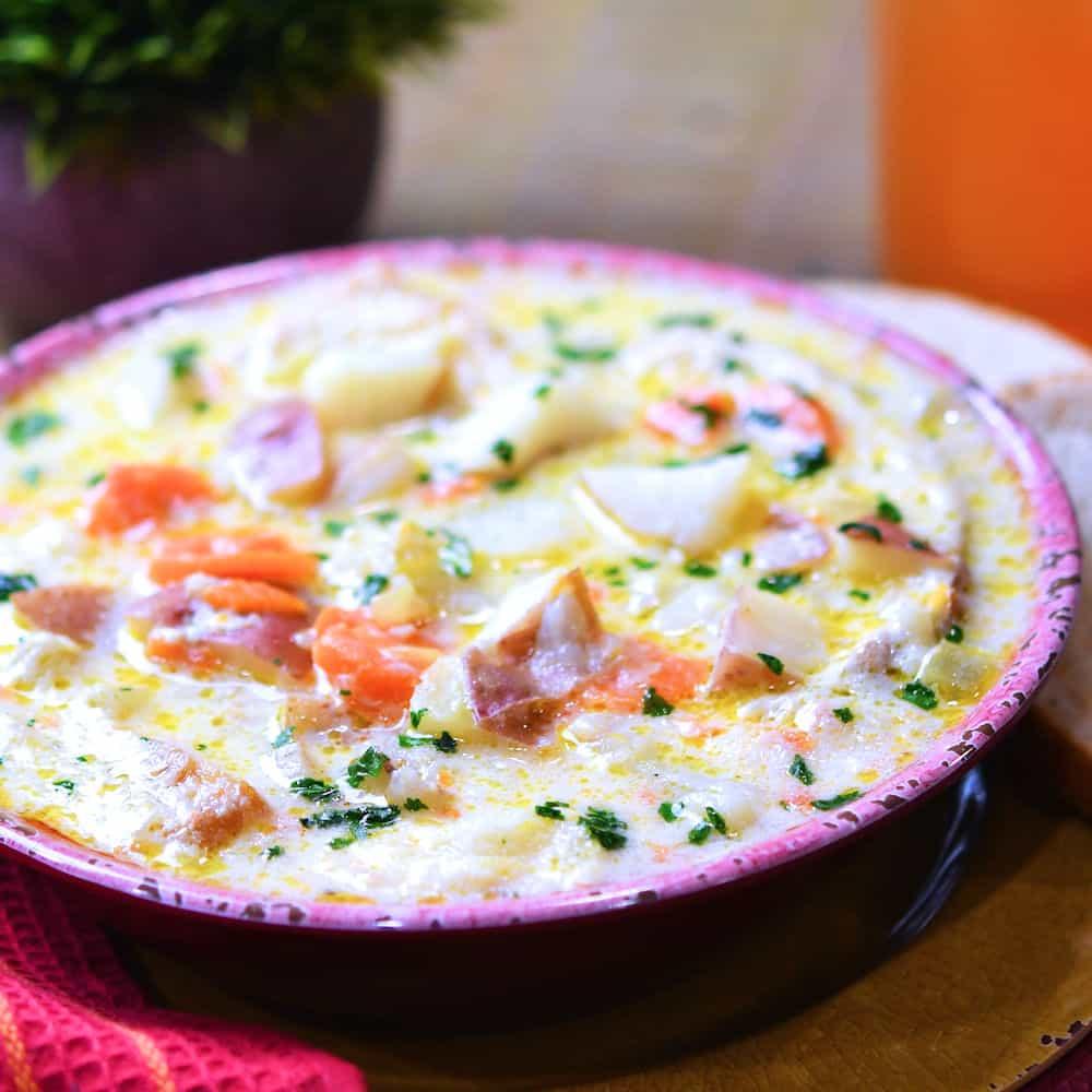 24Bite: Instant Pot Red Potato Soup Recipe by Christian Guzman