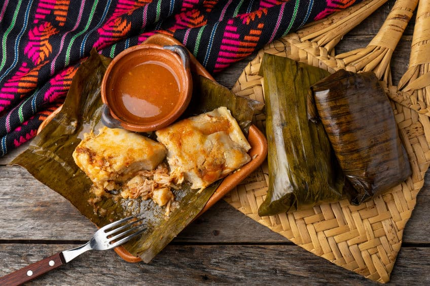 Tamales made in banana leaves instead of corn husks, © by carlosrojas20 via 123rf.com