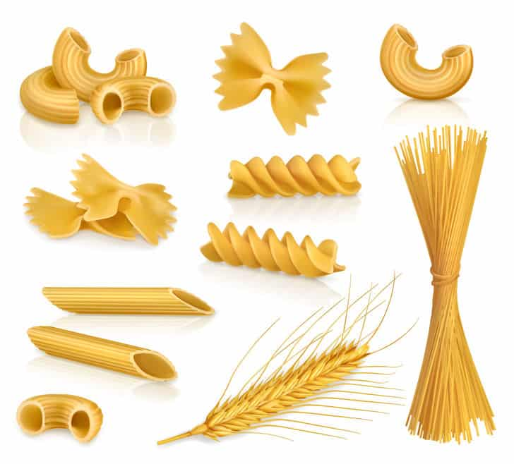 Set with pasta, vector icons, isolated on white background © Nataliia Natykach via 123rf.com