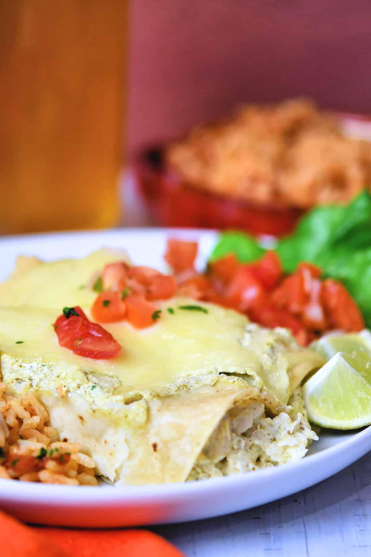 24Bite: Chicken Enchiladas with Green Sauce Recipe by Christian Guzman