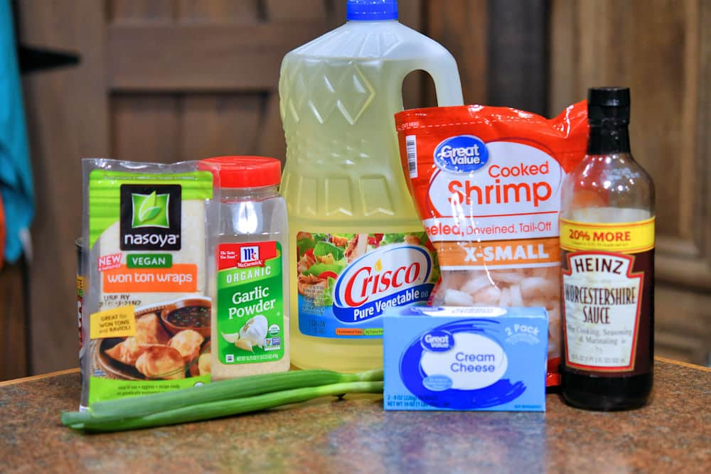ingredients for shrimp rangoon on a counter top