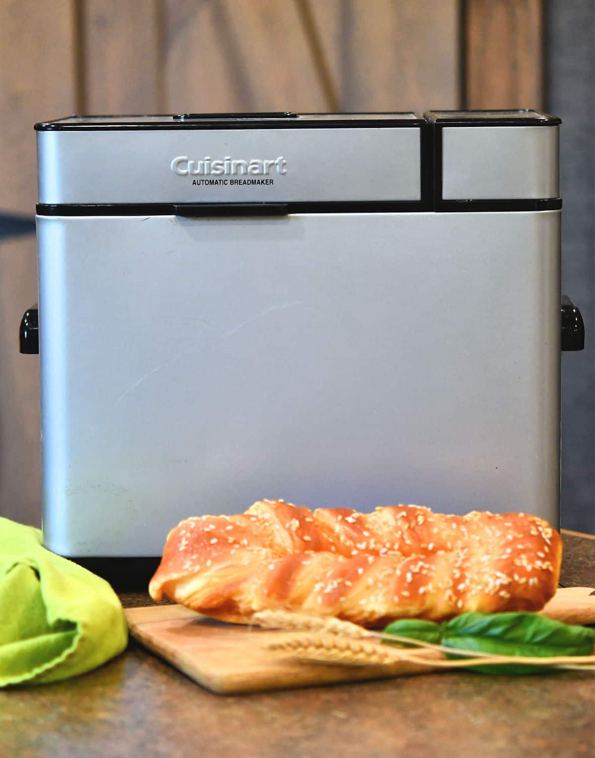 Cuisinart bread maker on a countertop