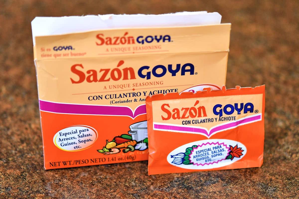 Sazon Goya seasoning with culantro and achiote