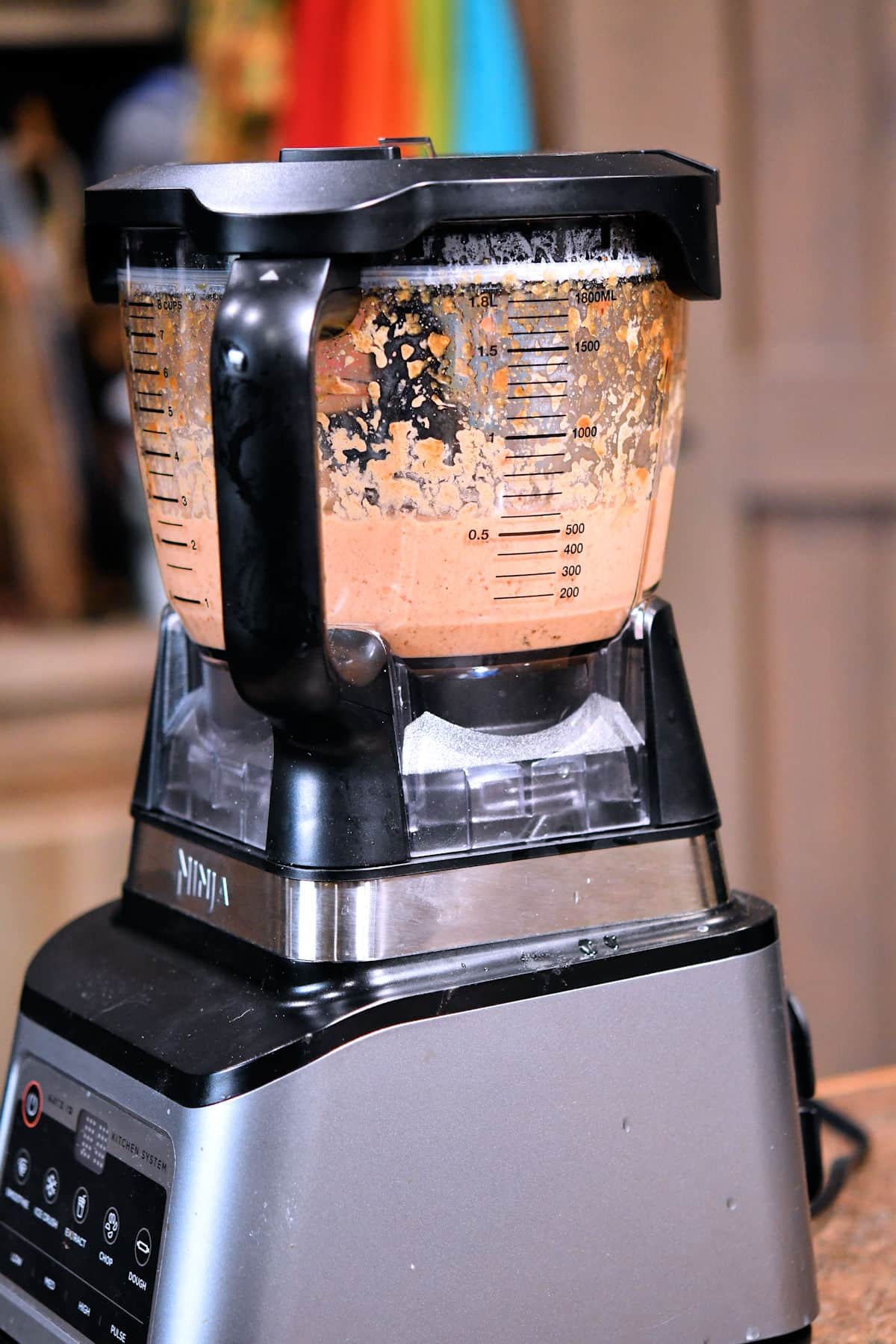 mixed chipotle salsa in a food processor